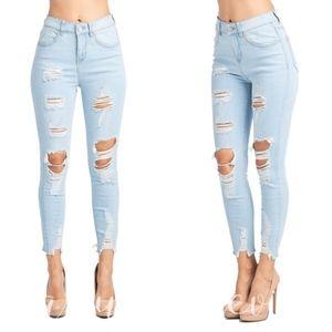 Denim - AMBER Distressed Skinny Jeans